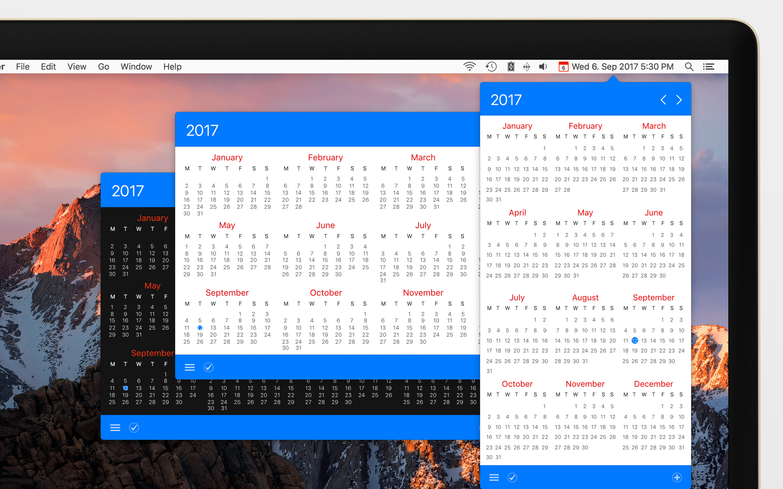 Calendar 366 II for Mac 2.0.3 破解版 - 优秀的菜单栏日历工具